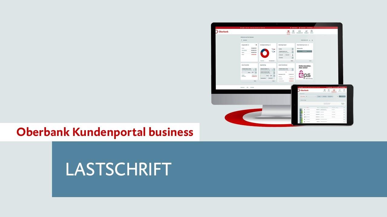 Oberbank Kundenportal Business Lastschrift Youtube
