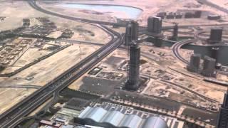 Vista aérea de Dhubai via Burj Khalifa