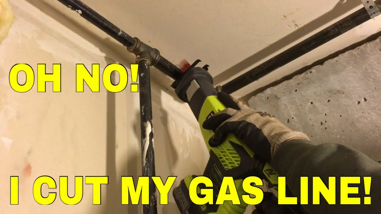 Tying into gas pipe