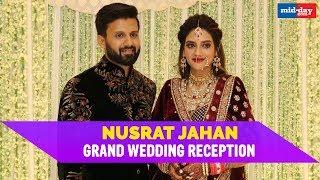 Glimpses from Nusrat Jahan and Nikhil Jain's Wedding Reception