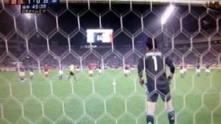 日本対韓国 サッカー・キリンチャレンジ杯 2010 5/24 二発目
