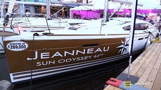 2016 Jeanneau Sun Odyssey 44 DS Sailing Yacht - Deck, Interior Walkaround - 2015 Annapolis Boat Show