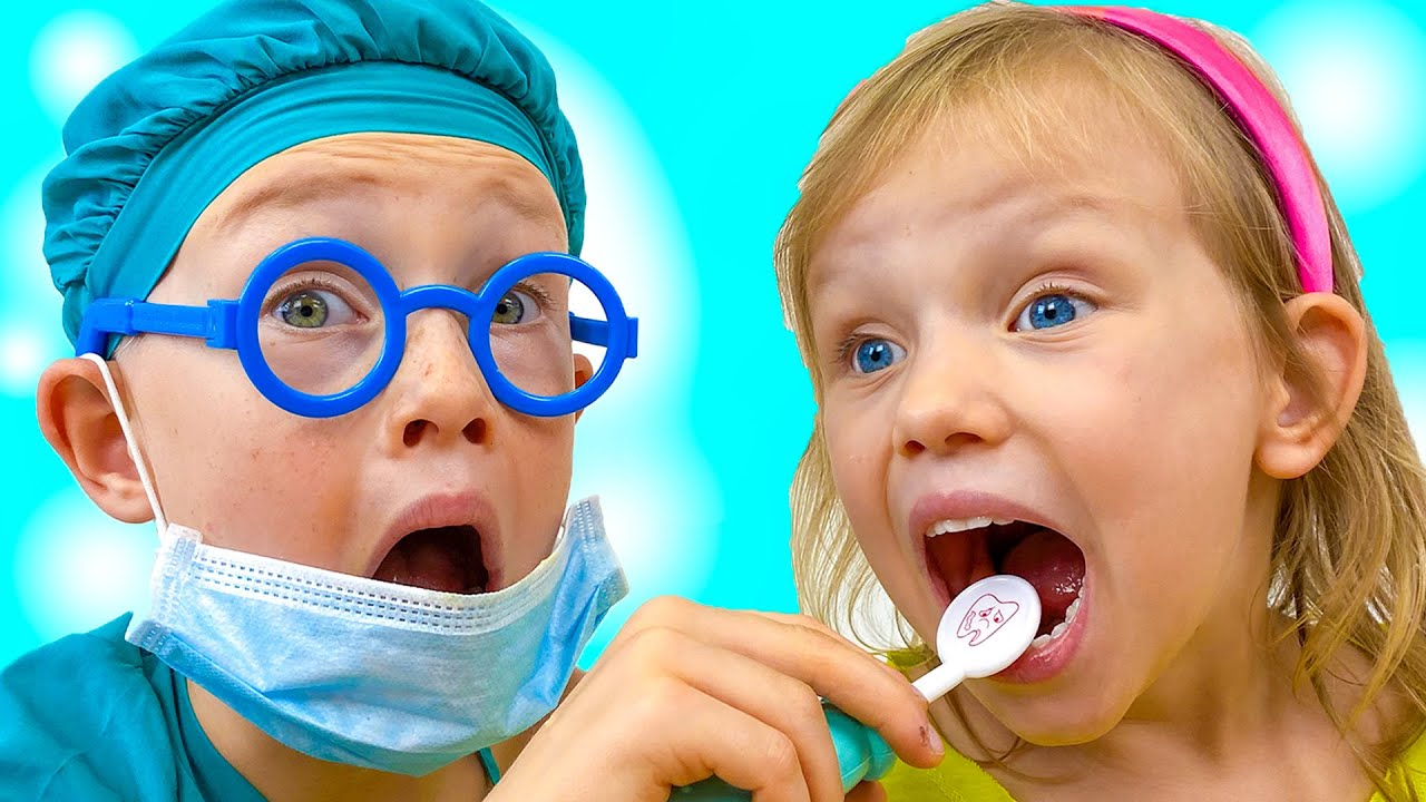 Dentist Song | Alex and Nastya Pretend Play Dentistry | Sing-Along to Nursery Rhymes and Kids Songs