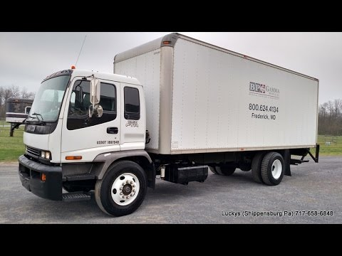 sold isuzu ftr 26 foot box truck automatic for sale diesel lift gate