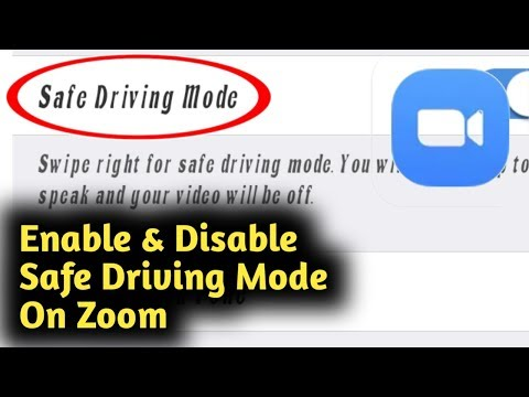 How To Enable & Disable Safe Driving Mode On Zoom