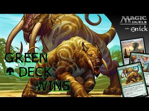 [Magic Duels] Green Deck Wins ~  STOMP!
