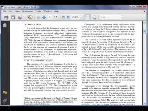 Library Instruction for SciFinder - Module 13: How to Read a Scholarly Chemistry Article