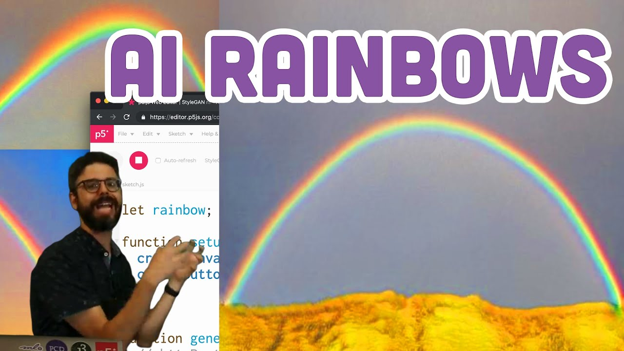 Coding Challenge #150: AI Rainbows with Runway and p5 js