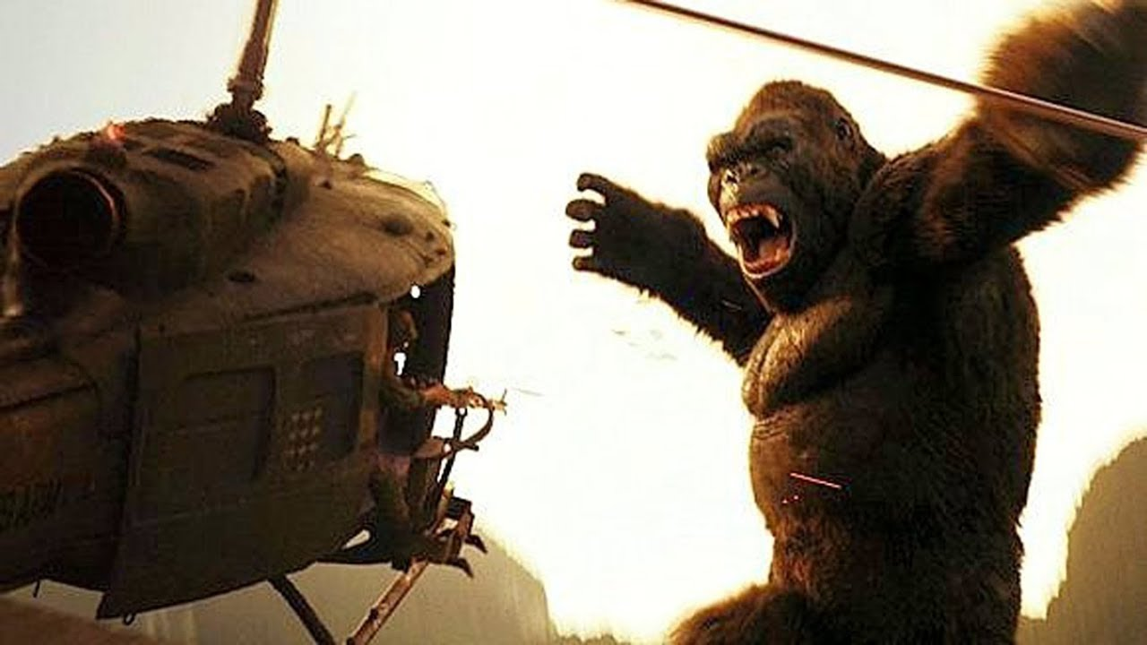 KONG vs HELICOPTERS - 'Is That a Monkey?' (Scene) - Kong: Skull Island (2017) Movie Clip H