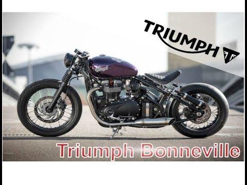 triumph bonneville customs with best exhaust sound