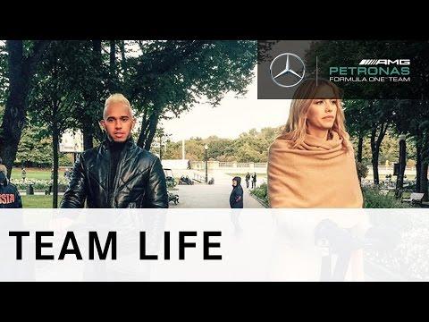 F1 Champion Lewis Hamilton visits Moscow with Lena Perminova and HUGO BOSS