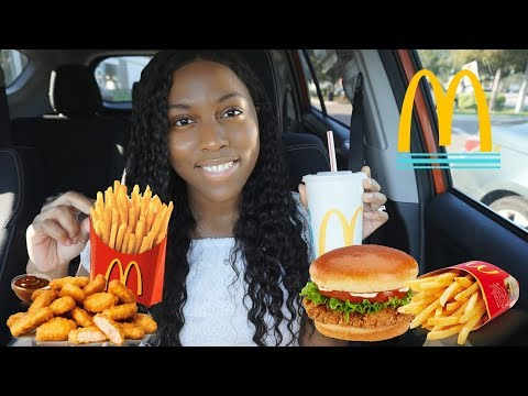 MCDONALD'S MUKBANG l CHICKEN NUGGETS + BUTTERMILK CHICKEN SANDWHICH