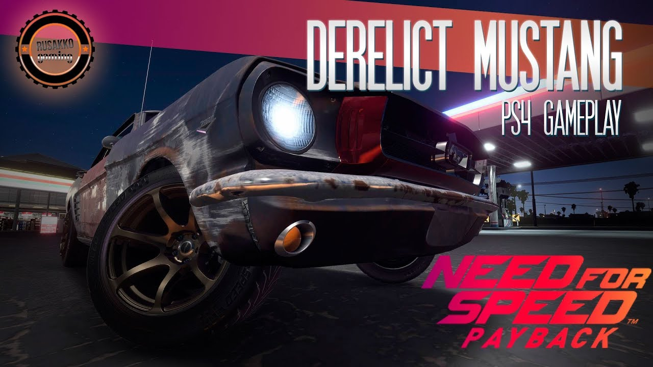 Need for speed payback derelict car ford mustang 1965 drift