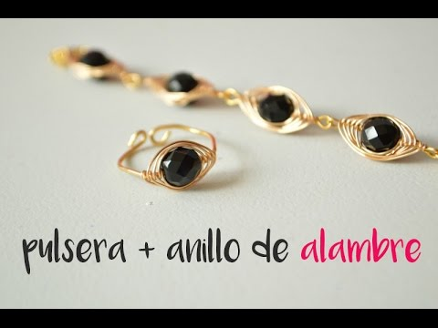 84505903e89b Cómo hacer una pulsera con alambre y anillo a juego  25. Cocoa Abalorios
