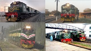 Pakistan Railway Locomotives Fleet 2018 || Light Engines || EMD, GE, Caterpillar, Alco Locomotives