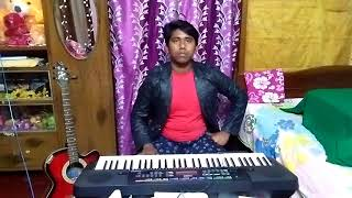 bhola o bhola played by musical keyboard and compared with external music track .Bikram Sarkar.