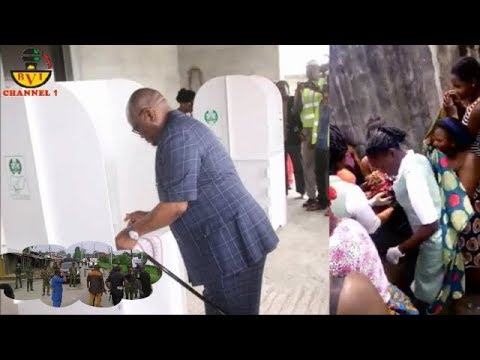 Woman Born Pikin For Wike At Polling Boot While Army Snatch Ballot Box