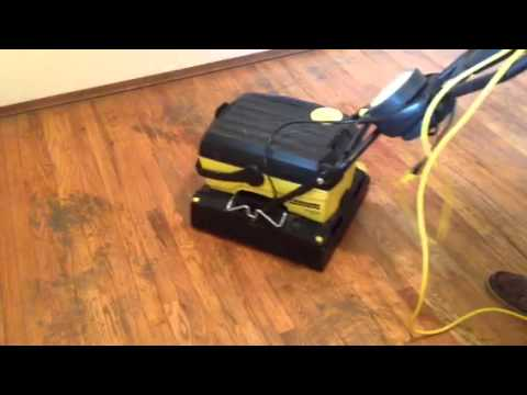 Wood Floor Cleaning Demo On Old Floors