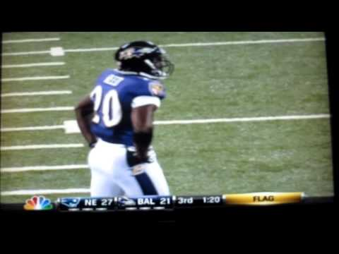 "Ed Reed ""HUGE"" hit on Deion Branch!!"
