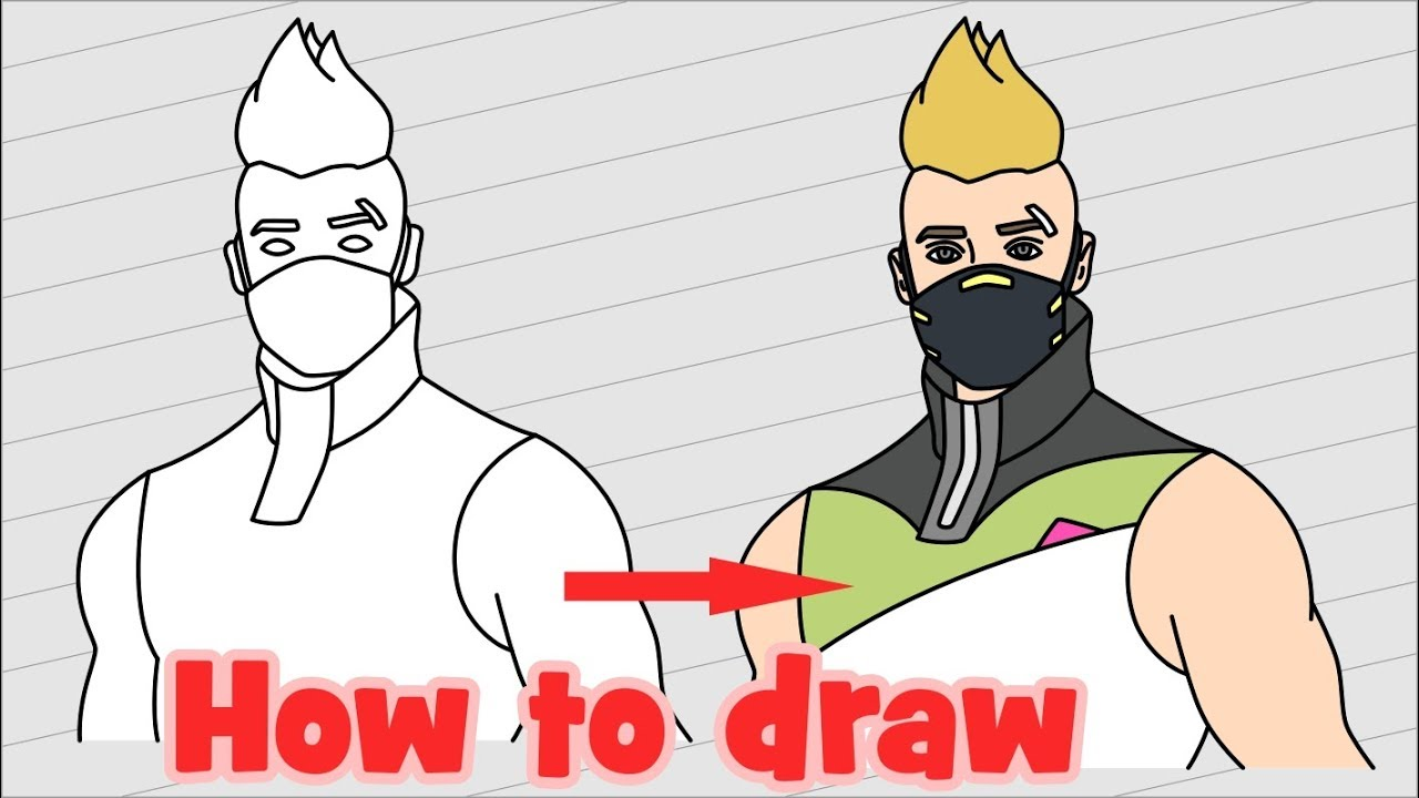 How To Draw Drift Fortnite Characters Youtube