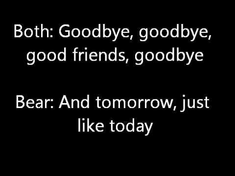 Bear In The Big Blue House GoodBye Song Lyrics