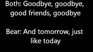Bear In The Big Blue House GoodBye Song Lyrics