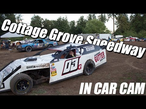 In Car Cam Sport Mod Event - Cottage Grove Speedway 6/29/19 Win