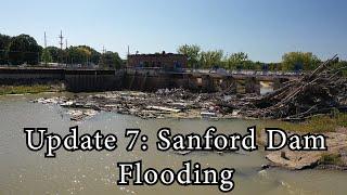 Update 7: Sanford Flood 2020 - Drone - Dam Collapse