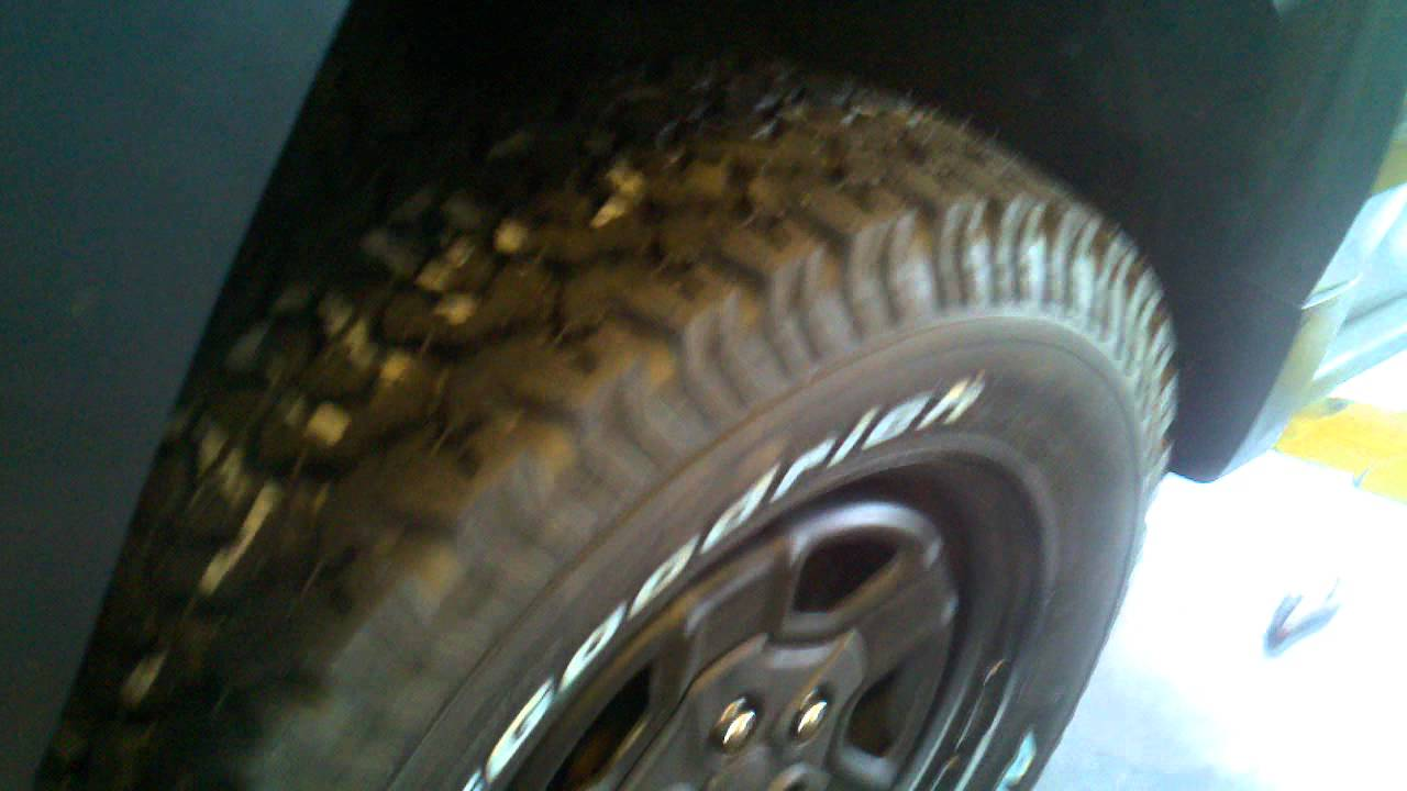 All Terrain Tires >> jeep bf goodrich tires - YouTube