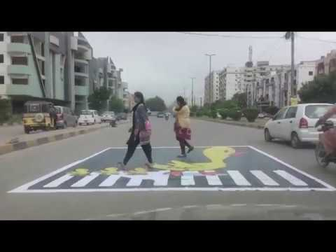 Creative 3D Zebra Crossing in Karachi