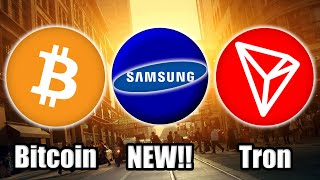 THIS IS BIG! Samsung's NEW Blockchain Mainnet w/ Samsung Coin | NEW Tron Sponsorship | Bitcoin News