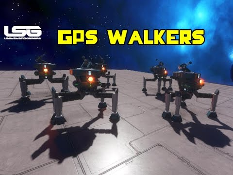 space engineers gps drone walkers concept youtube