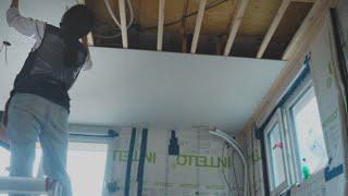 천장 하지작업 및 석고…