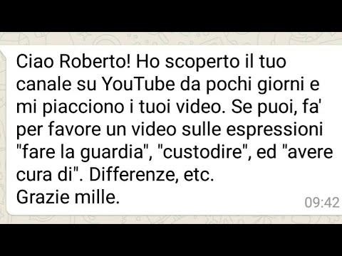 🚗 FARE LA GUARDIA, CUSTODIRE, AVERE CURA DI...   Un Italiano Vero - Lezioni di lingua italiana 🇮🇹