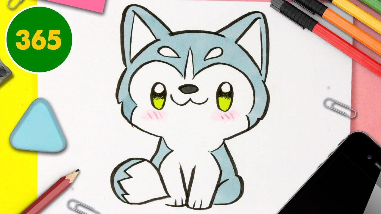 Comment Dessiner Un Chien Husky Kawaii Dessins Kawaii Faciles Dessiner Des Animaux Kawaii Youtube