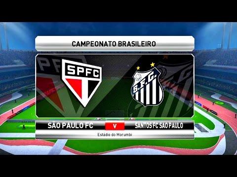 SÃO PAULO X SANTOS ( 1080p / 60FPS ) ESTÁDIO DO MORUMBI - PES 17