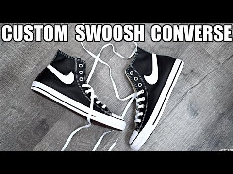 "CUSTOM SWOOSH CONVERSE ""CHINATOWN MARKET"""