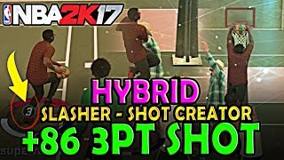 SLASHER & SHOT CREATOR MIXED! - BEST SLASHER IN NBA 2K17  - GREEN LIGHT SLASHER - BEST SLASHER BUILD