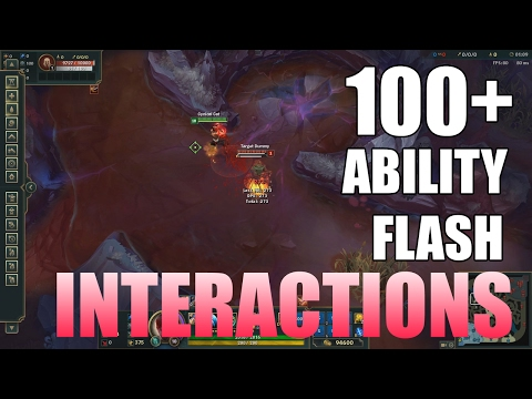 OVER ONE HUNDRED Ability+Flash Interactions! - League of Legends