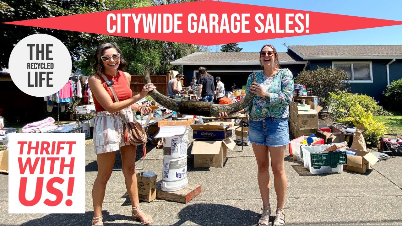 Thrift With Us! Citywide Garage Sales!  A Bag Full Of Sterling Silver For $3?!? The Recycled Life
