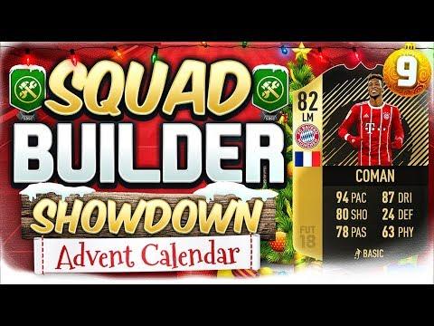 FIFA 18 SQUAD BUILDER SHOWDOWN!!! INFORM COMAN!!! Advent Calendar Day 9 Vs Nepenthez