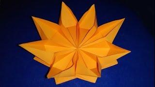 Easy Paper Flower. Origami Flower. Ideas For Gift Decor