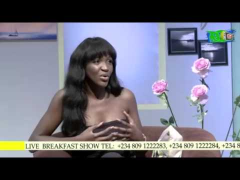 Super Model and TV Host, Idia Aisien @DeediYA on the #R2TVBreakfastShow