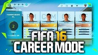 NEW FIFA 16 CAREER MODE FEATURES! Training Mode, Pre-Season & more!