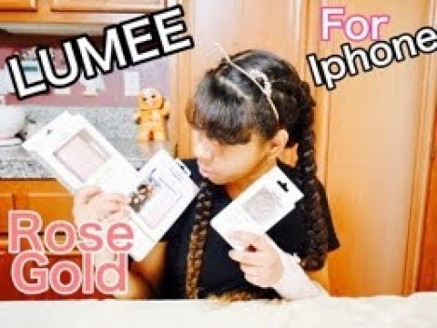 premium selection 48c78 d4d99 LUMEE Case for IPHONE ! HAUL! 2019 Rose Gold Case , charger & ring unboxing  and review /