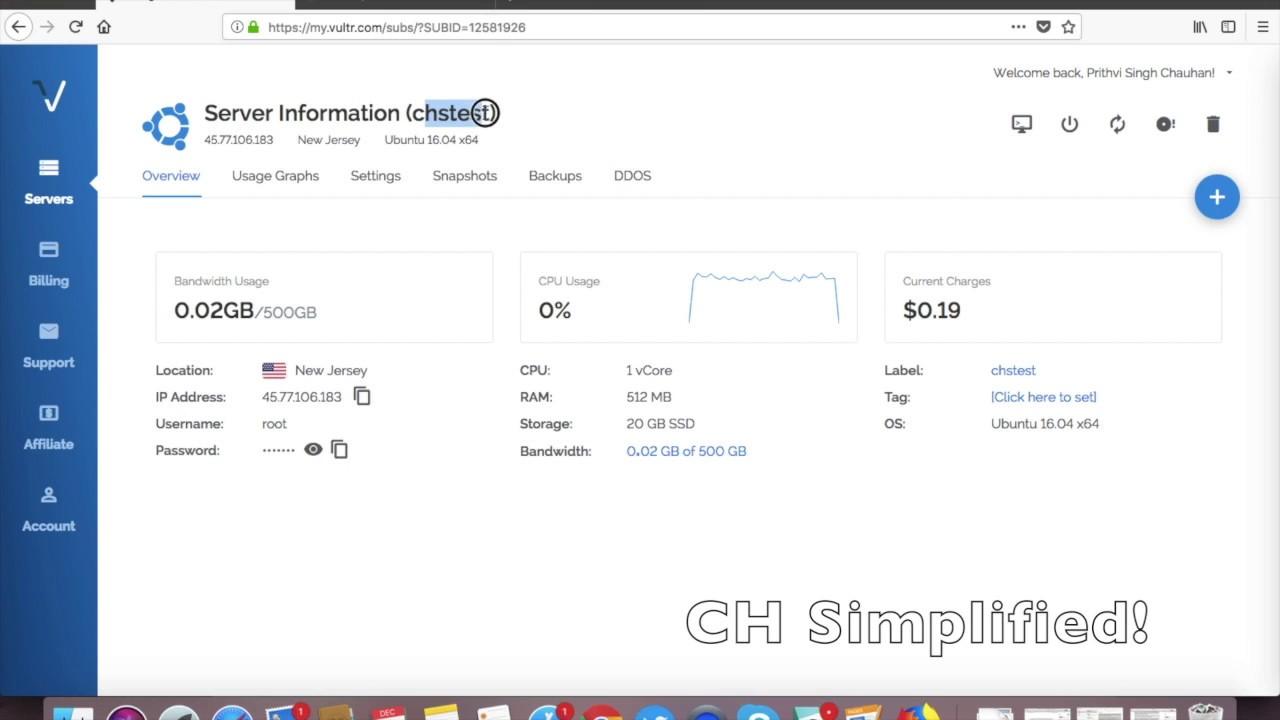 How to install serverpilot on Vultr VPS Server
