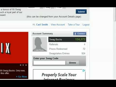 Swag Bucks Hack (100 swagbucks instantly) No download and No Bots