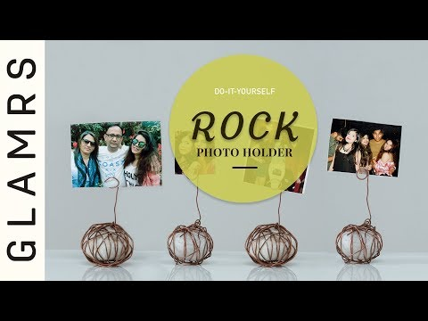 DIY Rock & Wire Photo Holder |