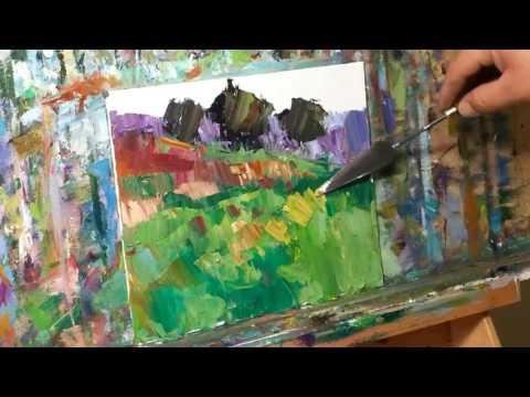 Palette Knife Landscape Oil Painting - Modern Impressionism by Artist JOSE TRUJILLO