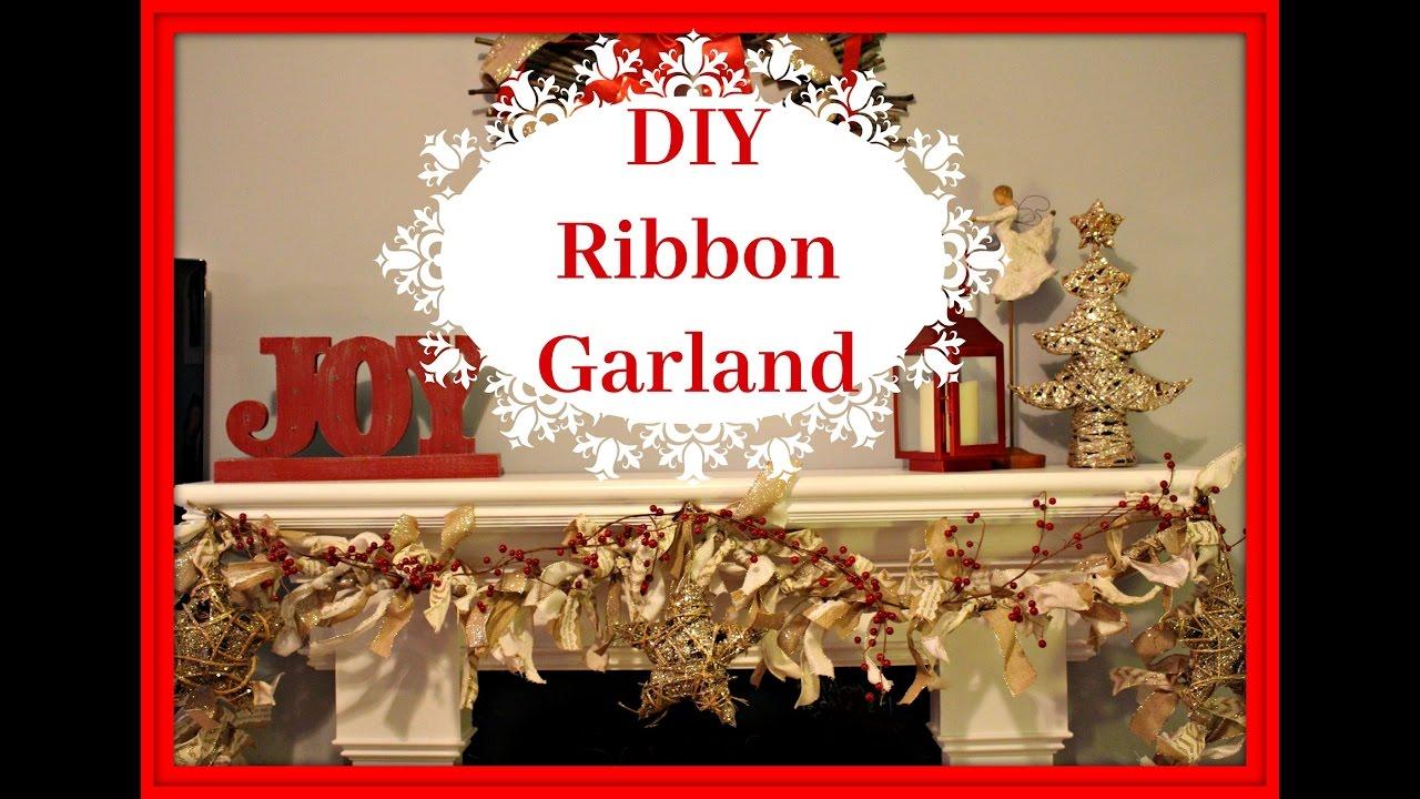 Diy Christmas Ribbon Garland